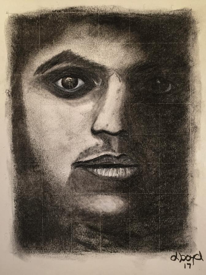 Alex charcoal 9x12